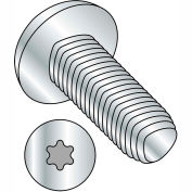 M3X6  Din 7500 C E Pan 6 Lobe Recess Thread Rolling Screw Zinc Bake And Wax, Pkg of 1500