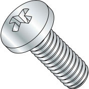M8-1.25X40  Din 7985 A Metric Phillips Pan Machine Screw Zinc, Pkg of 400
