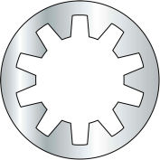 M8 Metric Internal Tooth Lock Washer - Zinc - DIN 6797 J - Pkg of 3000