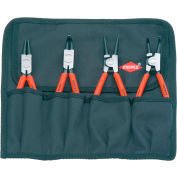 KNIPEX® 00 19 56 4 Pc Circlip Snap-Ring Pliers Set In Tool Roll