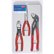 KNIPEX® 00 20 08 US2 3 Pc Universal Pliers Set W/ Cobra® Pliers