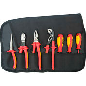 KNIPEX® 9K 98 98 25 US 7 Pc Pliers / Screwdriver Insulated Tool Set 1,000V, Nylon Pouch