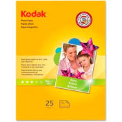 "Kodak Photo Paper, 8-1/2"" x 11"", 48 lb, Glossy, White, 25 Sheets/Pack"