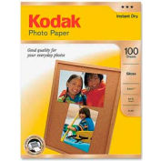"Kodak Photo Paper, 8-1/2"" x 11"", 48 lb, Glossy, White, 100 Sheets/Pack"