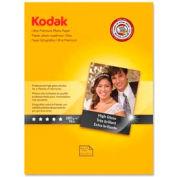 """Kodak Ultra Premium Photo Paper, 8-1/2"""" x 11"""", 75 lb, High Gloss, White, 25 Sheets/Pack"""