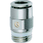 """Koolfog 06PUM04-NI 3/8"""" OD Nickel Plated Brass Push-In by 1/4"""" Male Connector"""