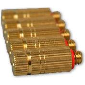 Koolfog KMN70 Atomization Nozzle W/Anti-Drip Body, Brass/SS, Cleanable, .008 Orifice, 5 Pack
