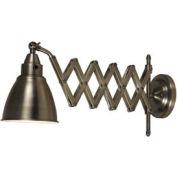 """Kenroy Lighting, Floren Swing Arm Lamp, 32197ANI, Antique Nickel Finish, Metal, 24""""L"""