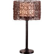 "Kenroy Lighting, Tanglewood Table Lamp, 32219BRZ, Bronze Finish, Metal, 14""L"