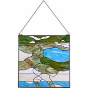"Kenroy Lighting - Ocean Wash Panel, 32375BL, Multicolored Finish, Tiffany Glass, Metal, 24""L"
