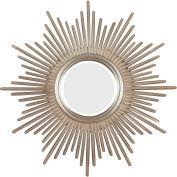 "Kenroy Lighting, Reyes Wall Mirror, 60008, Antique Silver Finish, Polyurethane, 2""L"