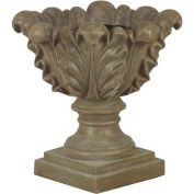 "Kenroy Lighting - Scroll Leaf Planter - Garden, 60060, Tuscan Earth Finish, Magnesium Oxide, 21""L"