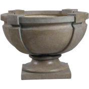 "Kenroy Lighting - Square Strap Urn - Garden, 60075, Tuscan Earth Finish, Magnesium Oxide, 21""L"
