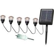 """Kenroy Lighting, Solar Light String, 60503, 5 Light, Black, Plastic, 2""""L"""