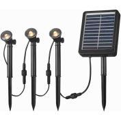 "Kenroy Lighting, Solar Spotlight, 60504, 3 Light String, Black, Plastic, 2""L"