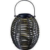 "Kenroy Lighting, Coil Solar Lantern, 60530RAT, Black, Metal, 8""L"