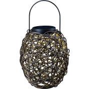 "Kenroy Lighting, Tangle Solar Lantern, 60533RAT, Black, Plastic, 7""L"
