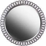 """Kenroy Lighting, Geo Wall Mirror, 61015, Bright Silver Finish, Polyurethane, 1""""L"""