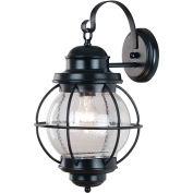 """Kenroy Lighting, Hatteras Large Wall Lantern, 90963BL, Black Finish, Metal, 11""""L"""