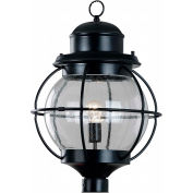 "Kenroy Lighting, Hatteras 1 Light Post Lantern, 90967BL, Black Finish, Metal, 15""L"
