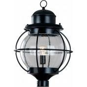 "Kenroy Lighting, Hatteras 1 Light Post Lantern, 90967BL, Black Finish, Metal, 15""L"