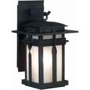 """Kenroy Lighting, Carrington 1 Light Large Lantern, 91903BL, Black Finish, Metal, 15""""L"""