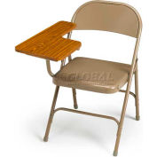 300 Series Steel Folding Chair - Beige - Right Hand Tablet Arm - Pkg Qty 2