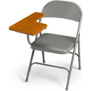 300 Series Steel Folding Chair - Warm Grey - Right Hand Tablet Arm - Pkg Qty 2