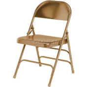 Ki 300 Series Steel Folding Chair - Beige - Pkg Qty 4
