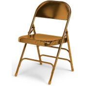 Ki 300 Series Steel Folding Chair - Brown - Pkg Qty 4