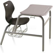 Intellect Wave Combination Desk Chair - Black Seat - White Nebula ABS Top