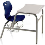 Intellect Wave Combination Desk Chair - Nordic Seat - White Nebula ABS Top