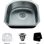 "Kraus KBU10 23"" Undermount Single Bowl 16 Ga. Stainless Steel Kitchen Sink"