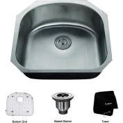 "Kraus KBU10 23"" Undermount Single Bowl 16 Ga. Stainless Steel Kitchen Sink"