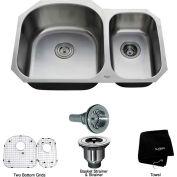 """Kraus KBU23 32"""" Undermount 60/40 Double Bowl 16 Ga. Stainless Steel Kitchen Sink"""