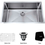 "Kraus KHU100-30 30"" Undermount Single Bowl 16 Ga. Stainless Steel Kitchen Sink"