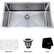 "Kraus KHU100-32 32"" Undermount Single Bowl 16 Ga. Stainless Steel Kitchen Sink"