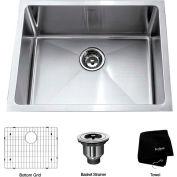 "Kraus KHU101-23 23"" Undermount Single Bowl 16 Ga. Stainless Steel Kitchen Sink"