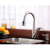 Kraus KPF-2121 Single Lever Stainless Steel Pull Out Kitchen Faucet