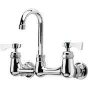"Krowne 14-801L - Royal Series 8"" Center Wall Mount Faucet, 6"" Gooseneck Spout"