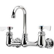 "Krowne 14-802L - Royal Series 8"" Center Wall Mount Faucet, 8-1/2"" Gooseneck Spout"