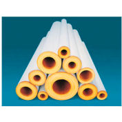 "Johns Manville 1-1/2X3' FT FIBERGLASS PIPE INSULATION 1/2"" WALL"