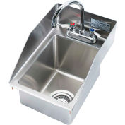 "Krowne HS-1225 - 12"" x 18"" Drop-In Hand Sink with Side Splashes, 5"" Deep Bowl"