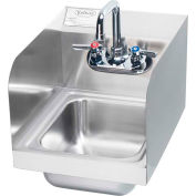 """Krowne HS-30L - 12"""" Wide Space Saver Hand Sink with Side Splashes Compliant"""