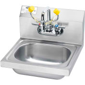 "Krowne HS-36 - Space Saver Hand Sink with Soap & Towel Dispenser Compliant, 16"" Wide"