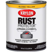 Krylon Rust Preventative Enamel Gloss Yellow Quart Can K06920600 - Pkg Qty 2