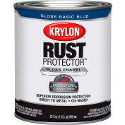 Krylon Rust Preventative Enamel Gloss Basic Blue  Quart Can K06920800 - Pkg Qty 2