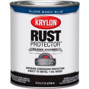 Krylon Rust Preventative Enamel Gloss Basic Blue  Quart Can K06920800 - Pkg Qty 2
