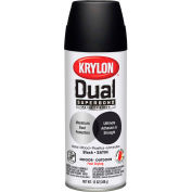 Krylon Dual Paint & Primer Aerosol 12 Oz. Satin Black - K08823001 - Pkg Qty 6
