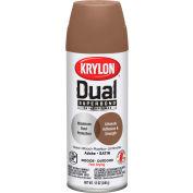 Krylon Dual Paint & Primer Aerosol 12 Oz. Satin Adobe - K08825001 - Pkg Qty 6